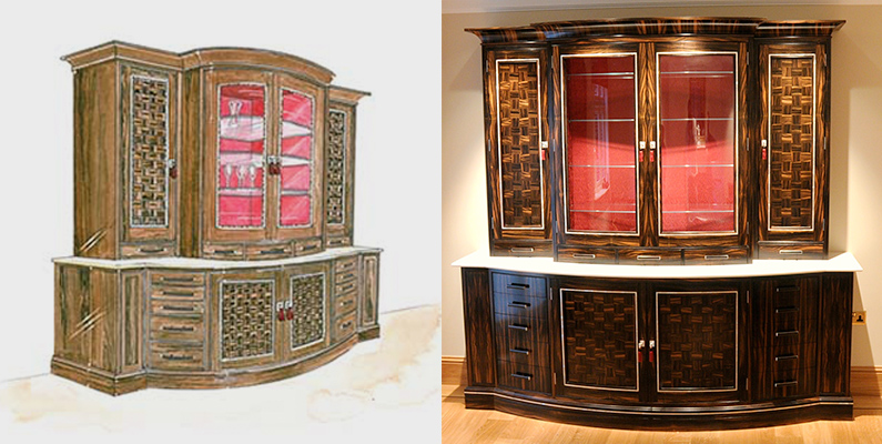 from sketch to finished bespoke joinery